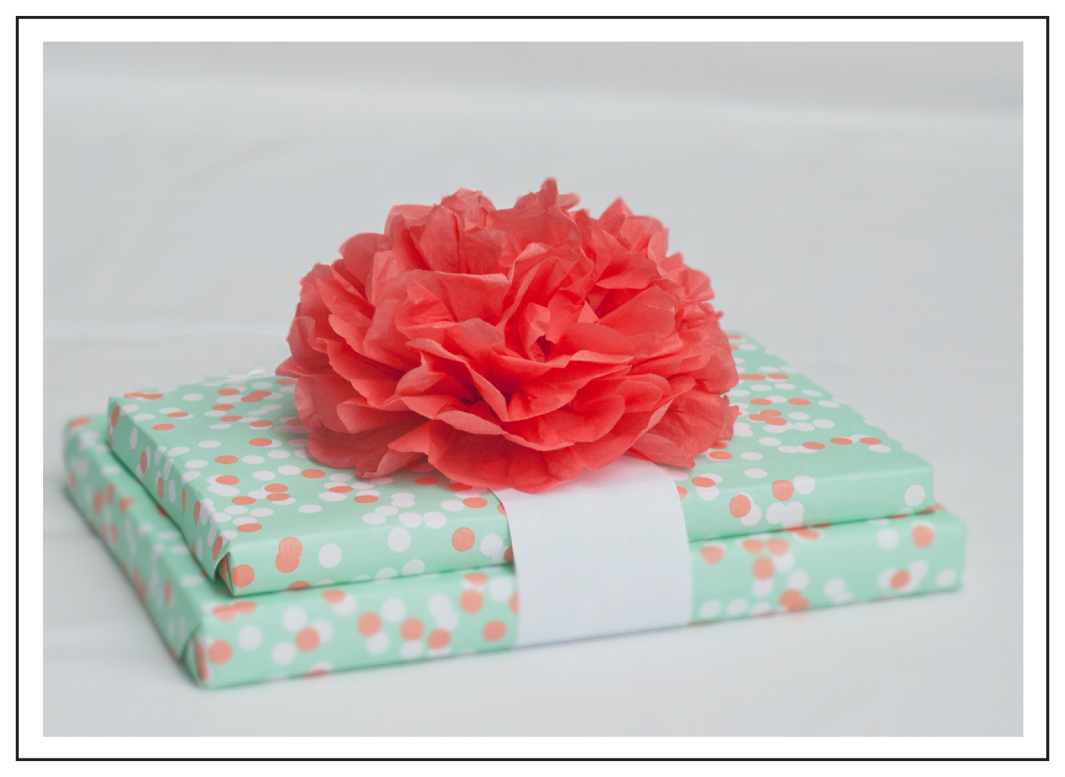 Gift wrap mix mingle for Creative tissue paper ideas